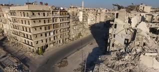 Aleppo liegt in Trümmern