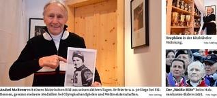 Anderl Molterer-Skilegende, der neuenmalige Gewinner des Hahnenkammrennens
