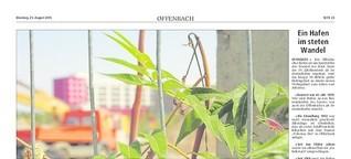 Der Offenbach Hafen im Wandel: Eine Fotoreportage (Offenbach-Post, 2015)