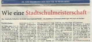 Schulteams beim Heidelberger Halbmarathon
