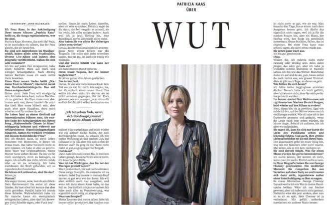 Patricia Kaas über Wut