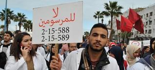 """Proteste in Marokko: """"Wir sind Lehrer, keine Terroristen"""""""