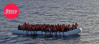 """Flucht über das Mittelmeer: """"Was hier draußen passiert, ist einfach nur krank"""""""
