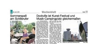 Dockville ist Kunst-Festival und Musik-Campingplatz gleichermaßen