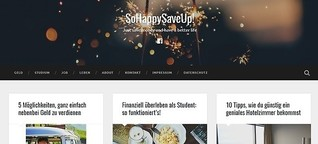Launch des Finanzblogs SoHappySaveUp!