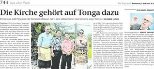 Die Kirche gehört auf Tonga dazu