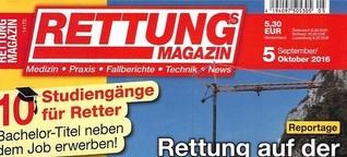 Rettungs-Magazin: Plötzlich Opfer (Eigenunfall BAB 3)