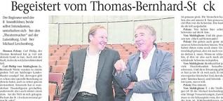 Zwei Theatermacher im Gespräch