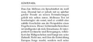 "Rezension von Ian McEwans ""Nussschale"""