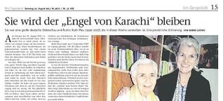 """Sie wird der """"Engel von Karachi"""" bleiben"""