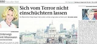 Sich vom Terror nicht einschüchtern lassen