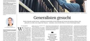 Generalisten gesucht