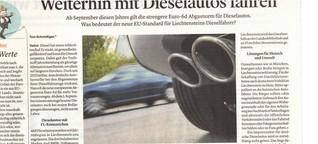 Artikel Liechtenstein: Diesel