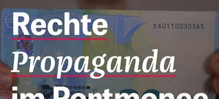 Rechte Propaganda im Portmonee