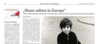 Volker Beck zu Besuch in Roma-Siedlungen