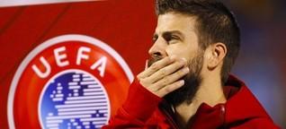 """""""Ein Typ mit großen Eiern"""": Katalane Piqué in Spanien ausgepfiffen"""