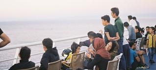 Objetí na ostrově Lesbos