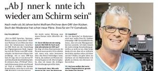 """Wolfram Pirchner: """"Ab Jänner könnte ich wieder am Schirm sein"""""""