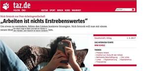 """Nick Srnicek zur Post-Arbeitsgesellschaft: """"Arbeiten ist nichts Erstrebenswertes"""""""