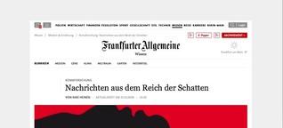 Komaforschung: Nachrichten aus dem Reich der Schatten
