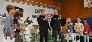 Dallmann und Hendrich sorgen für leuchtende Kinderaugen