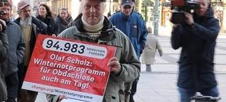 Ehemaliger Obdachloser sammelt 95.000 Unterschriften