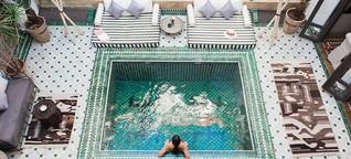 Warum ganz Instagram auf diesen Pool in Marokko abfährt | Urlaubsheld