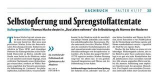 Rezension zu Thomas Macho: Das Leben nehmen. Suhrkamp, Berlin 2017