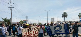 Mexiko: Karawane der Migranten erreicht Grenze zu den USA