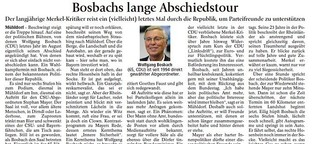 Bosbachs lange Abschiedstour