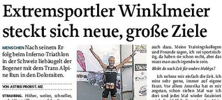Extremsportler Winklmeier steckt sich neue, große Ziele