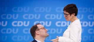 Jens Spahn und Kramp-Karrenbauer: Wer gewinnt das Duell um Merkels Erbe?