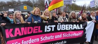 Zwei Straßen, zwei Welten – Tausende demonstrieren in Kandel
