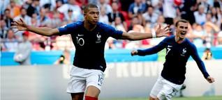 Fussball-WM 2018: Frankreich haut Argentinien raus, Doppelpack von Mbappé