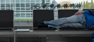 Auf der Wartebank: Wie Obdachlose am Münchner Flughafen leben