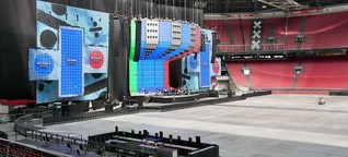 Cruijff Arena: Ed Sheeran singt mit Strom aus Nissan-Leaf-Akkus