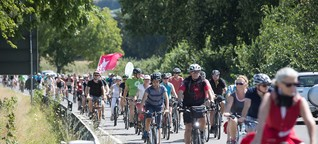 Radler lassen nicht locker: Demo für den Radschnellweg zwischen Mannheim und Heidelberg