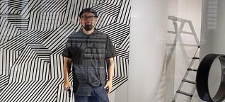 München: Tape-Art Artist Darel Carey bei Lodenfrey