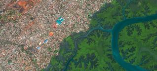Satellitenfotografie: Wie Städte das Antlitz der Erde verändern : Conakry (Guinea)