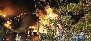 Deponiebrand bei Hockenheim: Rätsel und Schweigen nach dem Großbrand