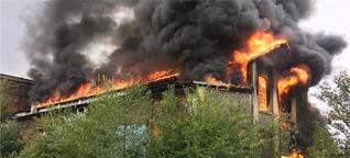 Brand in Alter Gießerei