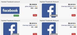 Darknet-Handelsplätze verkaufen gehackte Facebook-Accounts ab 4 US-Dollar in Bitcoin