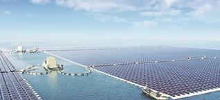 Schwimmendes Solarkraftwerk auf ehemaliger Kohlemine