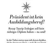 Präsident ist kein Ausbildungsberuf