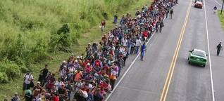 Migrantenmarsch aus Mittelamerika - Immer Richtung Norden