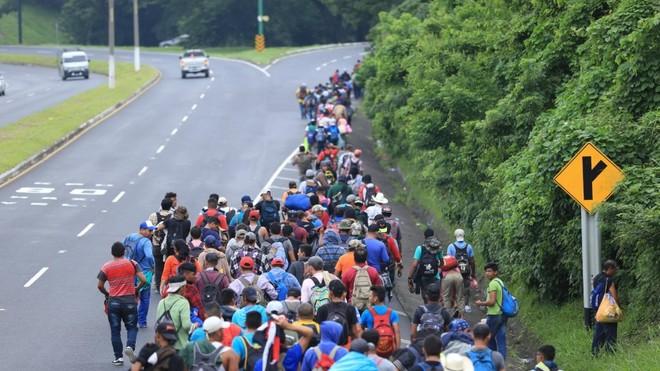 Der lange Marsch der Flüchtlinge in Richtung USA