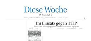 Artikel: Drei Hamburger gegen TTIP