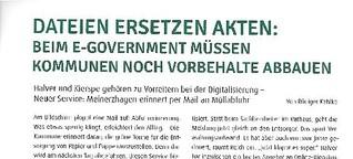 Neuland im Rathaus: Dateien ersetzen Akten