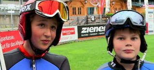 Nachwuchstraining des Skiclubs Oberstdorf