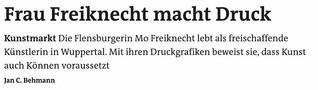 Frau Freiknecht macht Druck